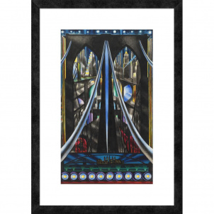 Joseph Stella, Brooklyn Bridge, medium (26 x 17 in.) print framed