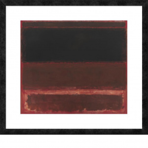 Mark Rothko, Four Darks in Red, medium (23.36 x 26 in.) print framed