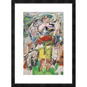 Willem de Kooning, Woman and Bicycle, medium (26 x 18 in.) print framed