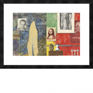 Jasper Johns, Racing Thoughts, medium (18 x 26 in.) print framed