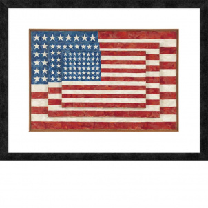 Jasper Johns, Three Flags, medium (19.18 x 26 in.) print framed