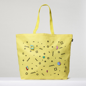 Yellow Tote with Pins