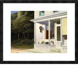 Edward Hopper, Seven A.M., medium (20.5 x 26 in.) print, framed