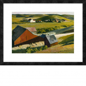 Edward Hopper (Cobb's Barn), medium (18.7 x 26 in.) print, framed