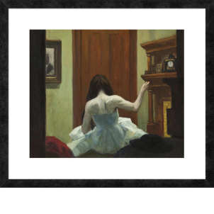 Edward Hopper, New York Interior, medium (22.2 x 26 in.) print, framed