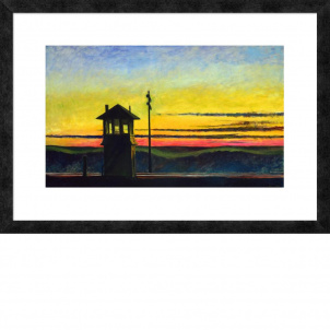 Edward Hopper, Railroad Sunset, medium (17 x 26 in.) print, framed