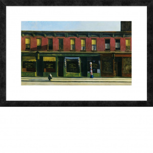 Edward Hopper, Early Sunday Morning, medium (16.76 x 26 in.) print, framed
