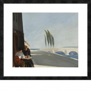 Edward Hopper, Le Bistro or The Wine Shop, medium (22.3 x 26 in.) print, framed