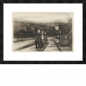 Edward Hopper, Study for Gas, medium (18.3 x 26 in.) print, framed