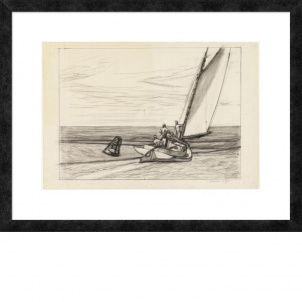 Edward Hopper, Study for Ground Swell, medium (19 x 26 in.) print, framed