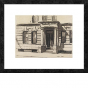 Edward Hopper Study for Summertime, 1943 (15.8 x 20 in.) framed print - Small