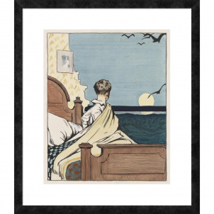 Edward Hopper, Boy and Moon, medium (26 x 22 in.) print, framed