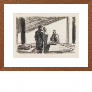 Edward Hopper, Conference at Night, medium (19 x 26 in.) print, framed
