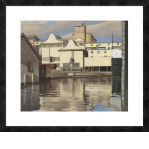 Charles Sheeler, River Rouge Plant, medium (22.48 x 26 in.) print, framed