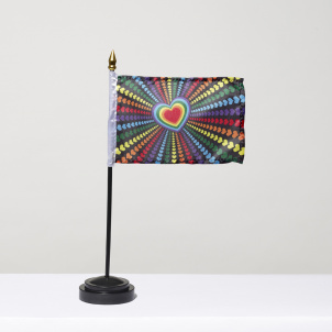 Rainbow Hearts Flag