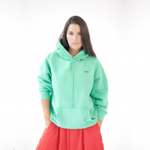 Medium Green Hue Hand-Dyed and Unique Noah Hoodie