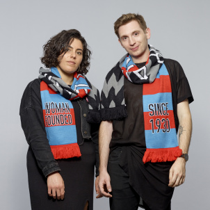 Cattelan Football Scarf