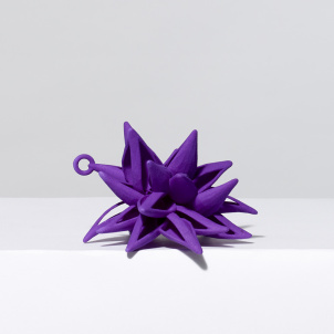 Frank Stella Star Ornament, Purple