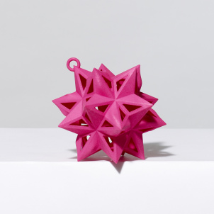 Frank Stella Star Ornament, Pink