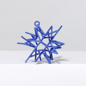 Frank Stella Star Ornament, Blue