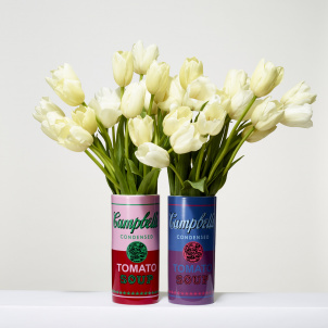 Andy Warhol Tomato Soup Can Porcelain Vase