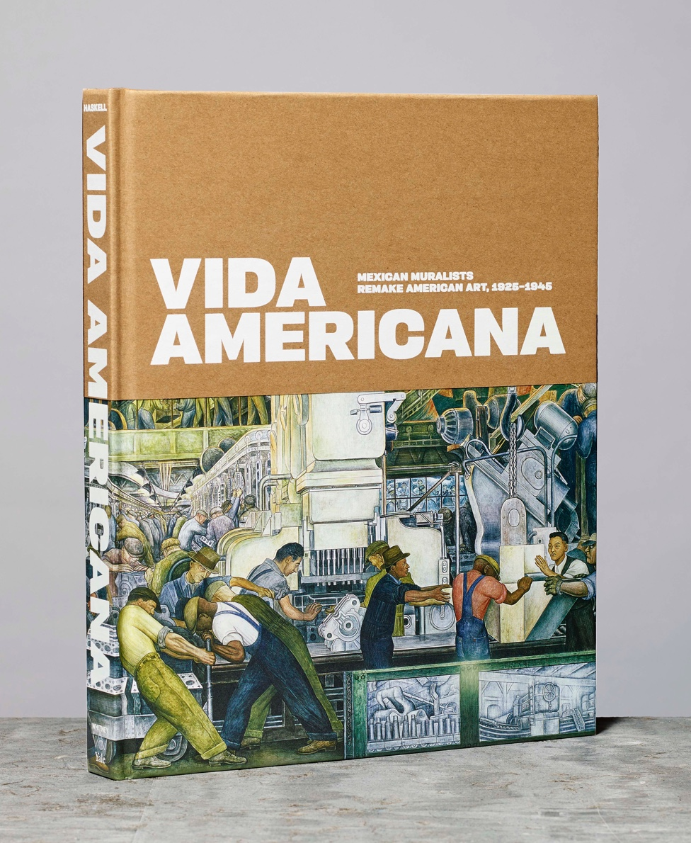 The catalogue for Vida Americana standing upright with a slight profile