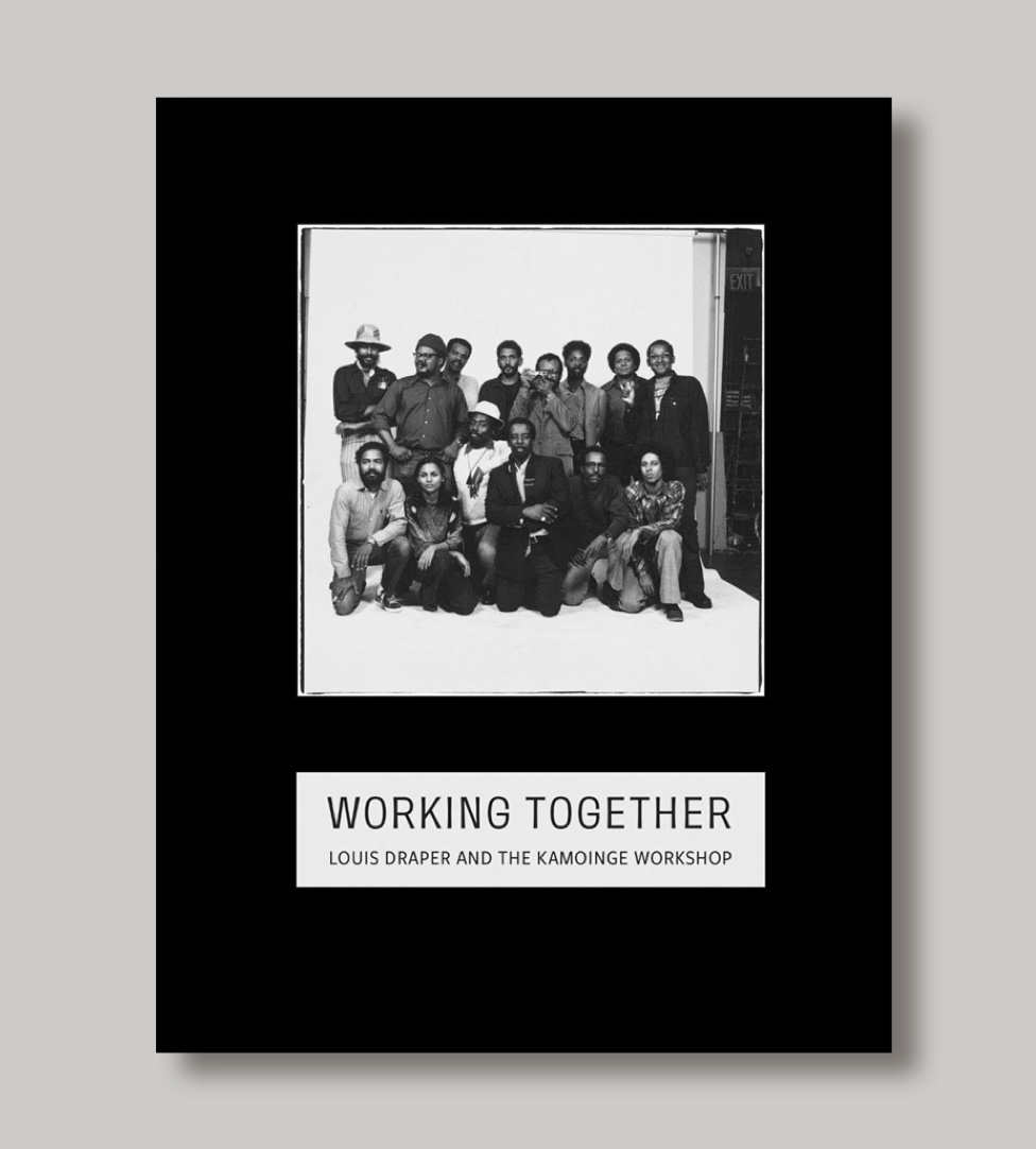 The cover of the Working Together catalogue with a black and white photo