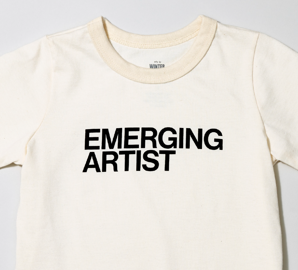 White T-shirt with emerging artist graphic