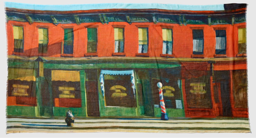 A Hopper print of the work Early Sunday Morning