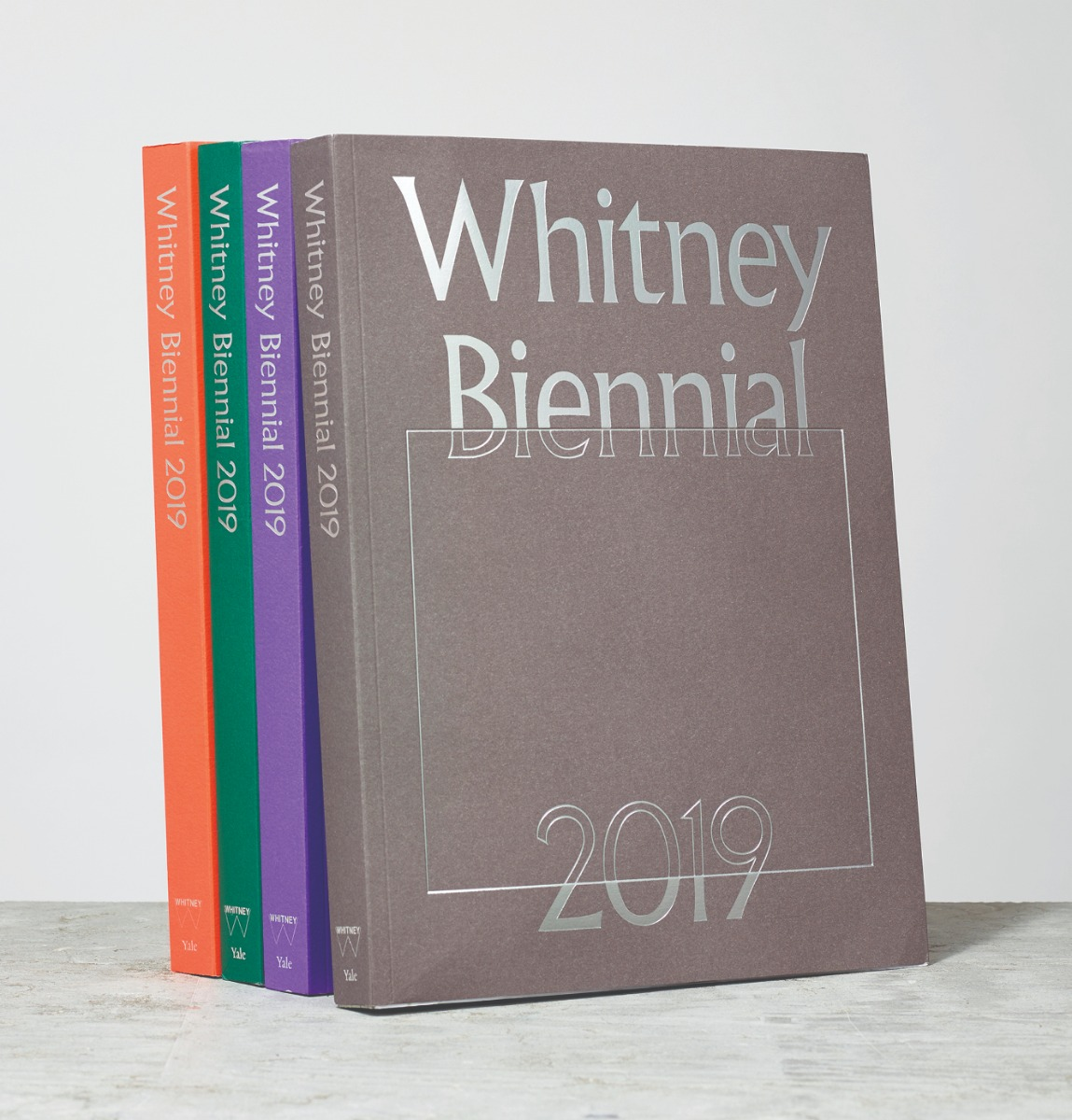 Whitney Biennial catalog color options and cover