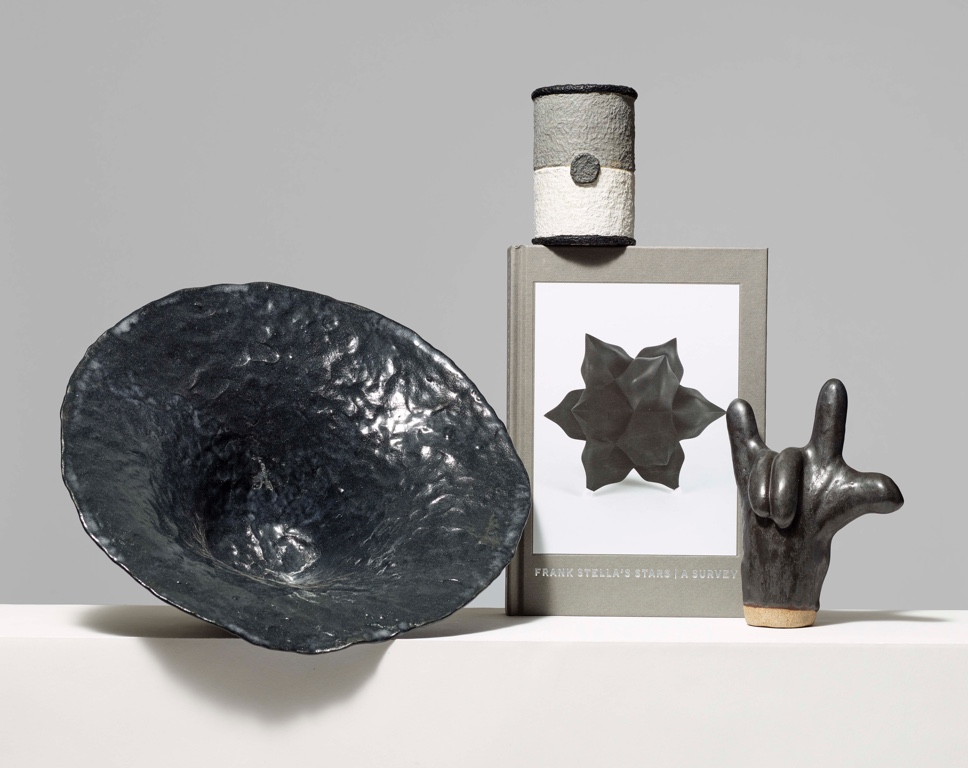 Collection of black and white objects